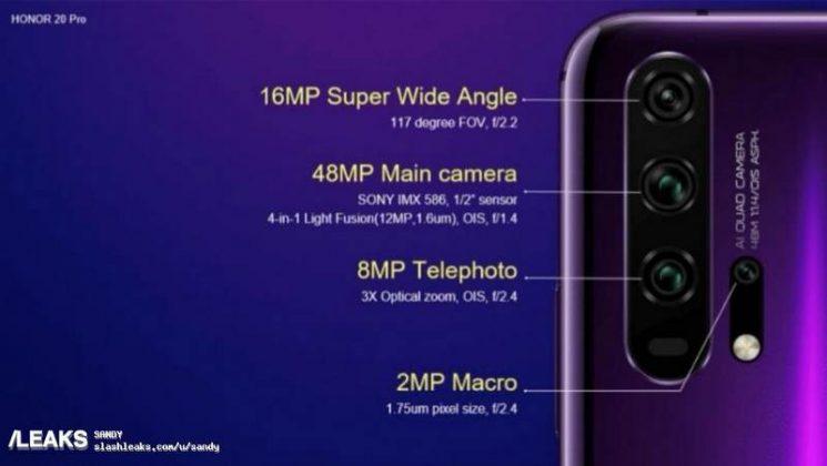 Honor 20 Pro specifiche della fotocamera | Evosmart.it