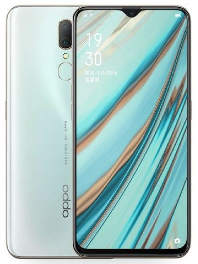 Oppo A9x in colorazione Ice Jade White