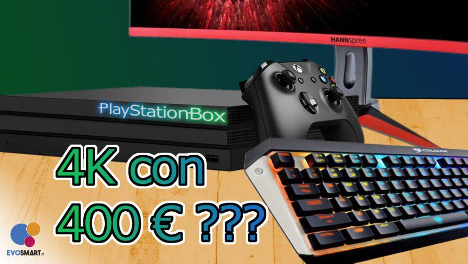 Posso giocare su PC come Xbox One X al prezzo di PS4 Pro?