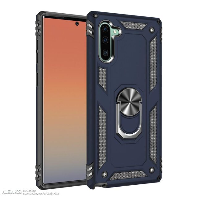 Galaxy Note 10 cover render