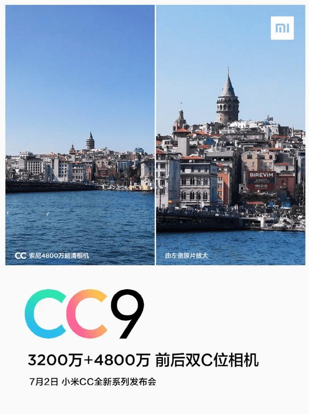 Xiaomi CC9 fotocamera teaser