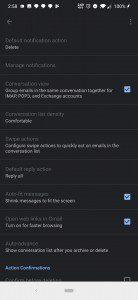 Gmail si tinge di nero