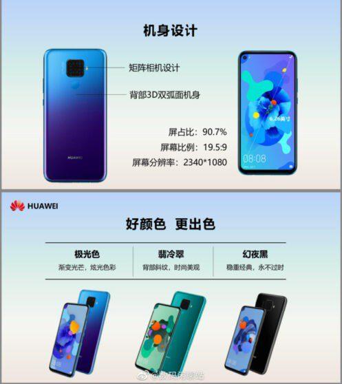 Huawei Mate 30 Lite: trapelano le specifiche tecniche