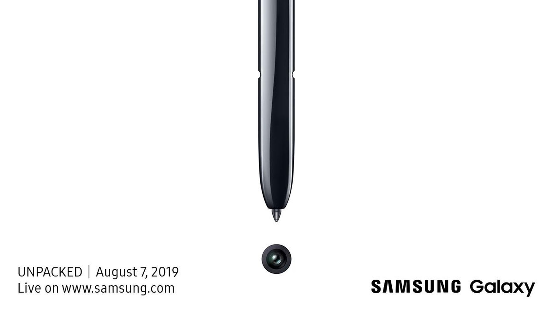 Samsung Galaxy Note 10 teaser