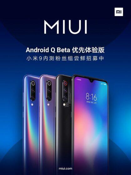 Xiaomi Mi 9: in arrivo la prima closed beta basata su Android Q
