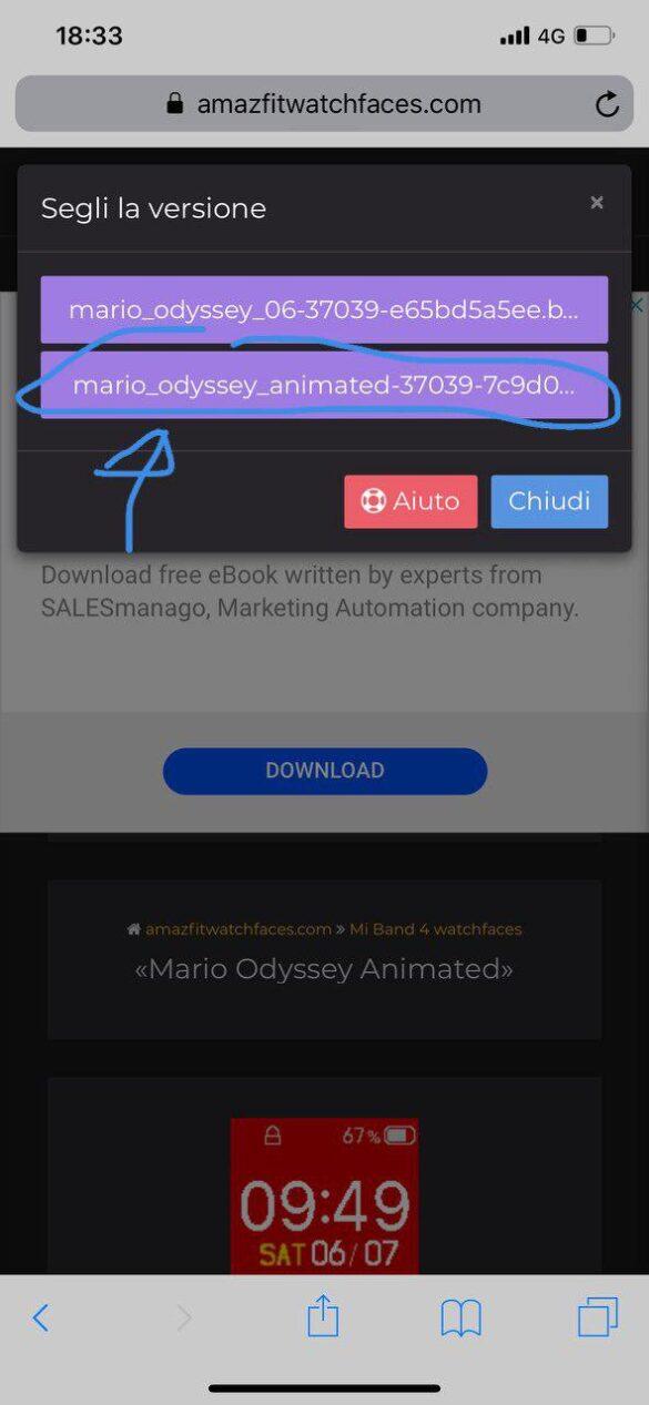 Watchfaces per MiBand 4 su iPhone ( passaggio 2)