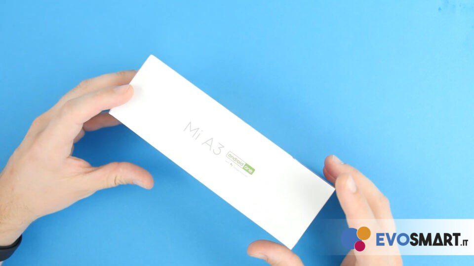 La scatola di Xiaomi Mi A3   Evosmart.it