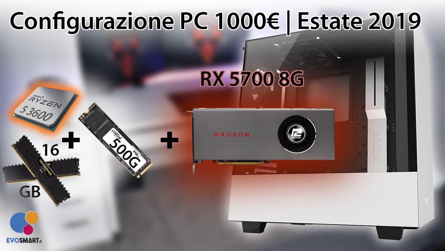 La migliore configurazione PC da 1000 € | Estate 2019