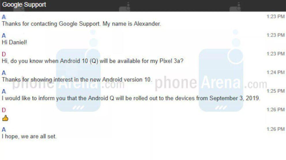 Android 10 in arrivo sugli smartphone Pixel il 3 Settembre