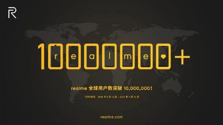 Realme festegga i primi 10 milioni di unità vendute