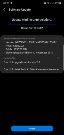 Samsung Galaxy Note 10: arriva la beta di Android 10