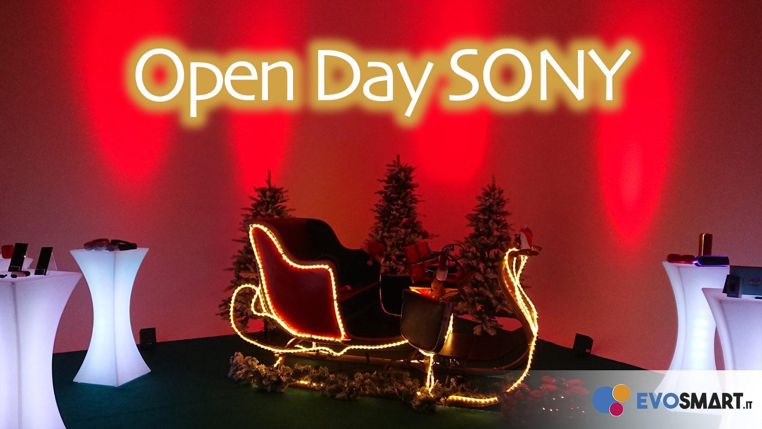 Siamo stati all'open day SONY abbastanza... natalizio