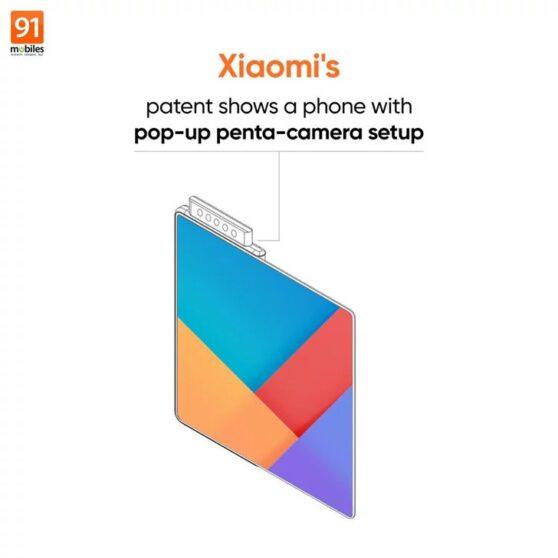 Xiaomi brevetta un foldable con 5 fotocamere pop-up