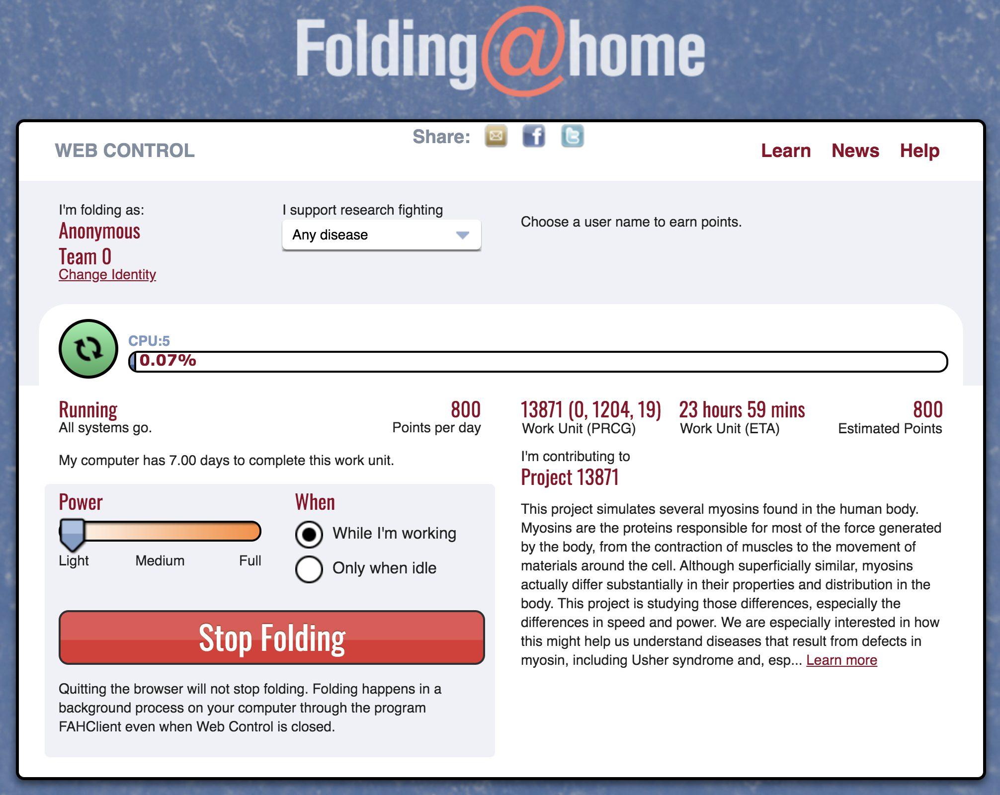 Il supercomputer di Folding@Home supera la potenza di 1 ExaFlop