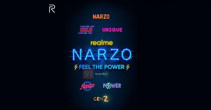 Realme è pronta a lanciare una nuova serie di smartphone chiamata Narzo