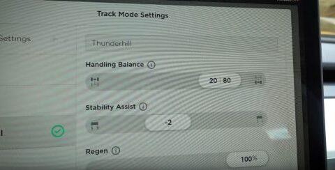 Dettaglio delle impostazioni della Track Mode V2   Evosmart.it