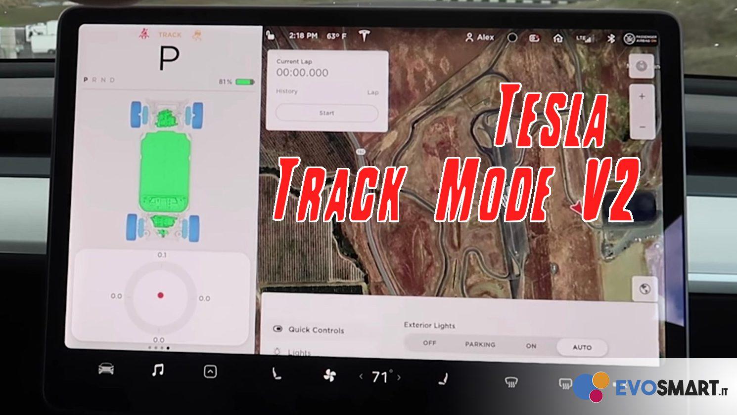 L'auto come un videogioco, grazie alla Track Mode V2 di Tesla