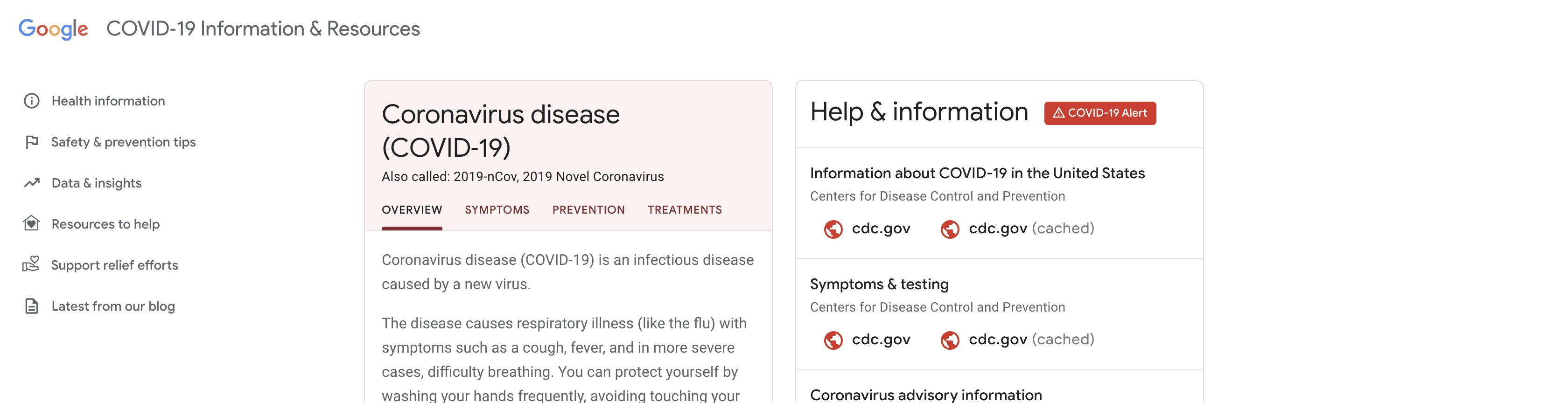 Google ci aggiorna sul Coronavirus. Meglio tardi che mai