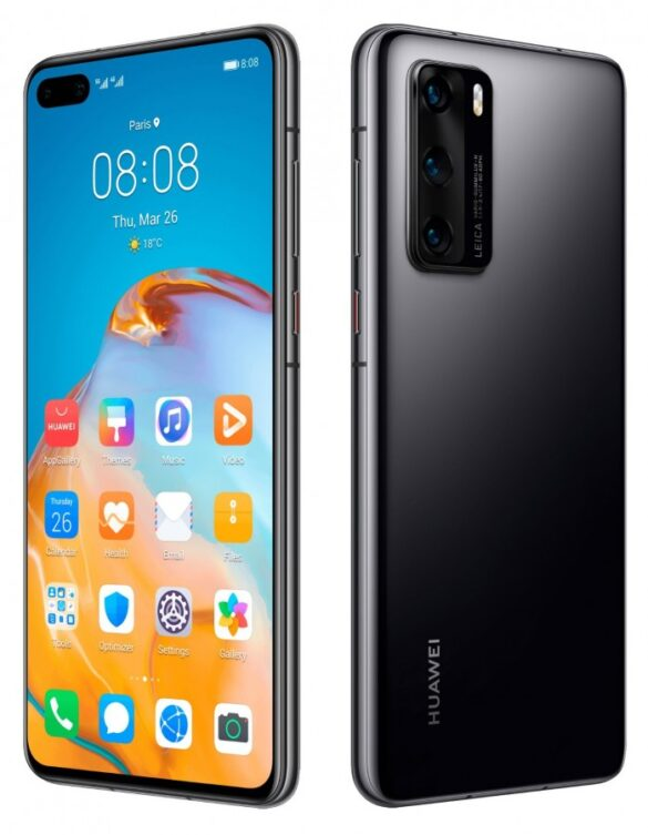 Huawei P40 nelle colorazioni nero e argento   Evosmart.it