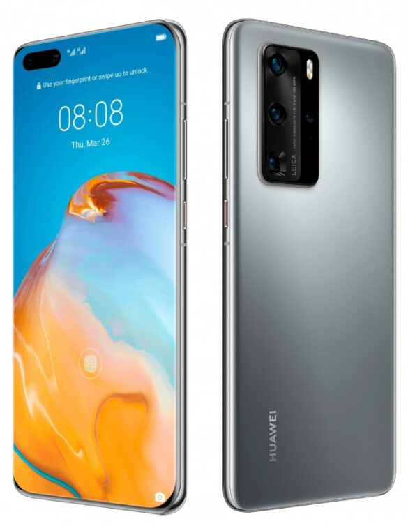 Huawei P40 Pro nelle colorazioni nero e argento   Evosmart.it
