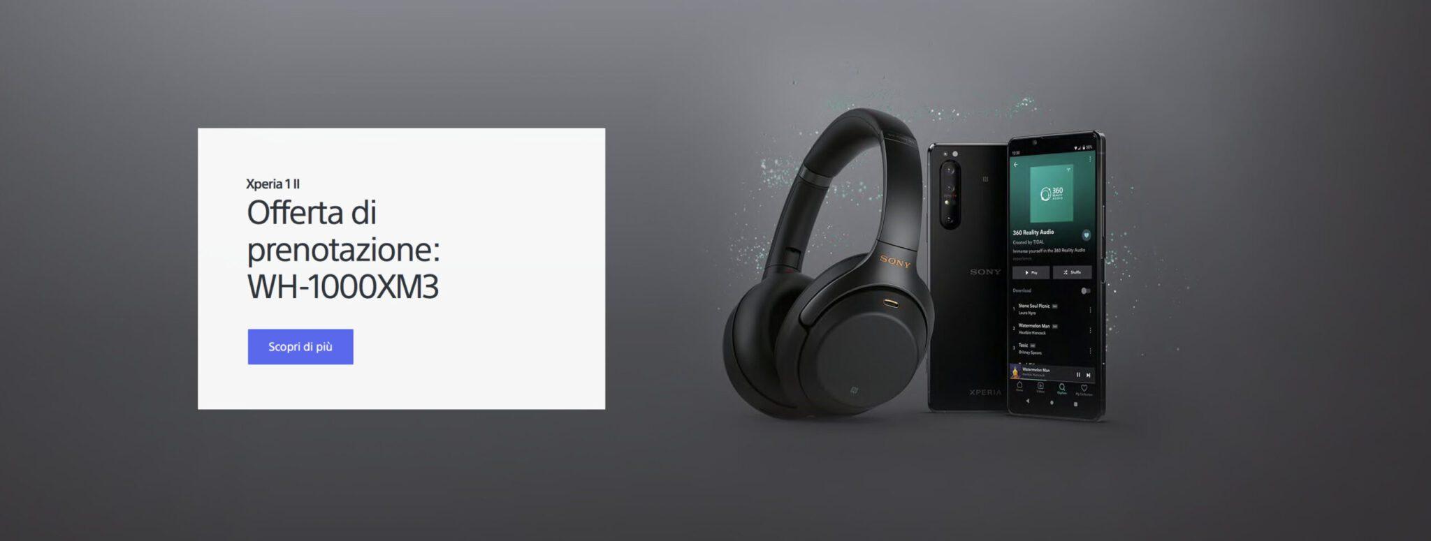 Sony Xperia 1 II + cuffie dal 18 Giugno a 1.199 €