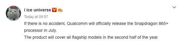 Snapdragon 865 Plus: debutto previsto nel mese di Luglio