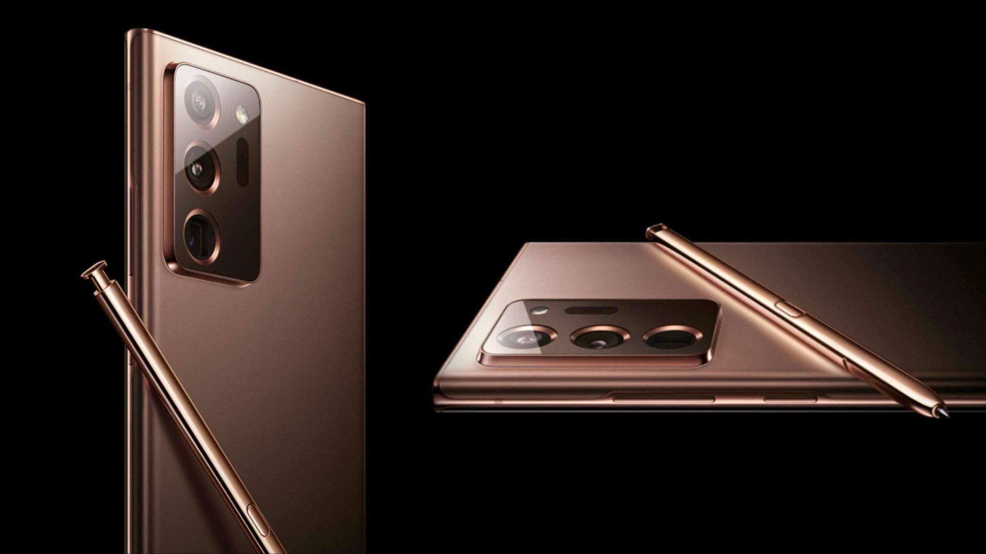 Galaxy Note 20 Ultra si mostra in una nuova immagine a 360 gradi