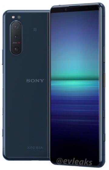 Sony Xperia 5 II si mostra nei primi render ufficiali
