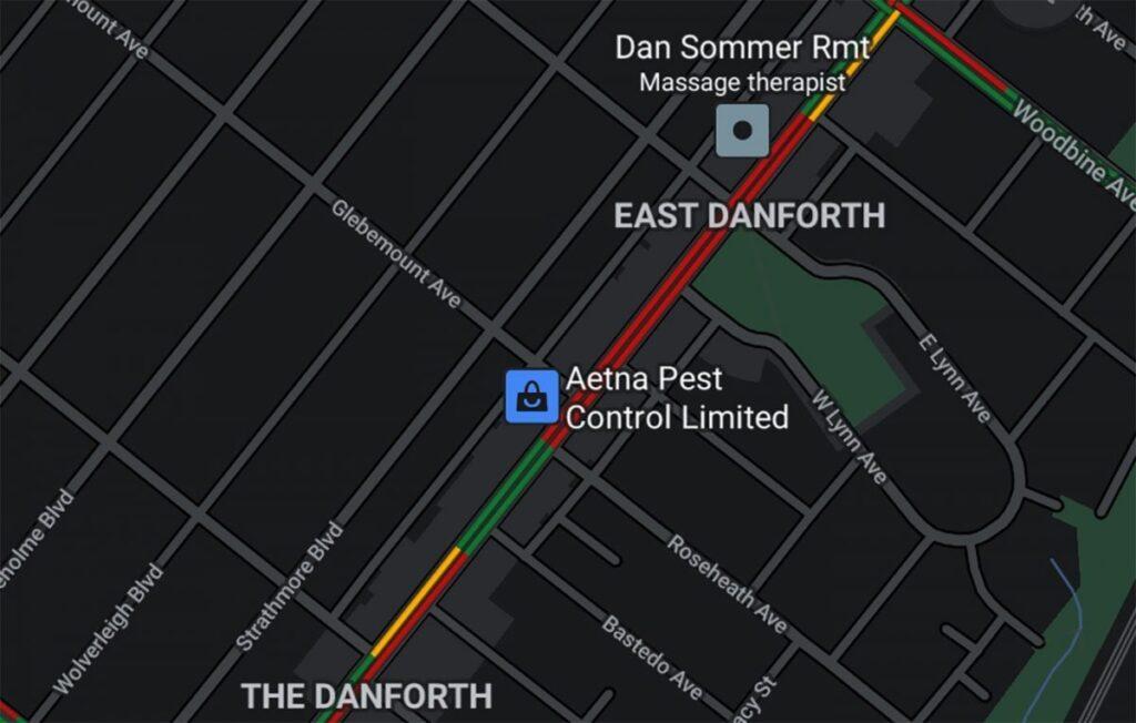 Google Maps Dark Theme Evosmart