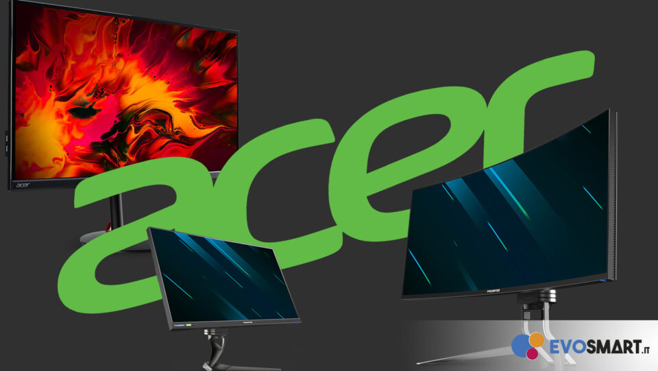 Acer Amplia la Pluripremiata Gamma di Monitor Gaming