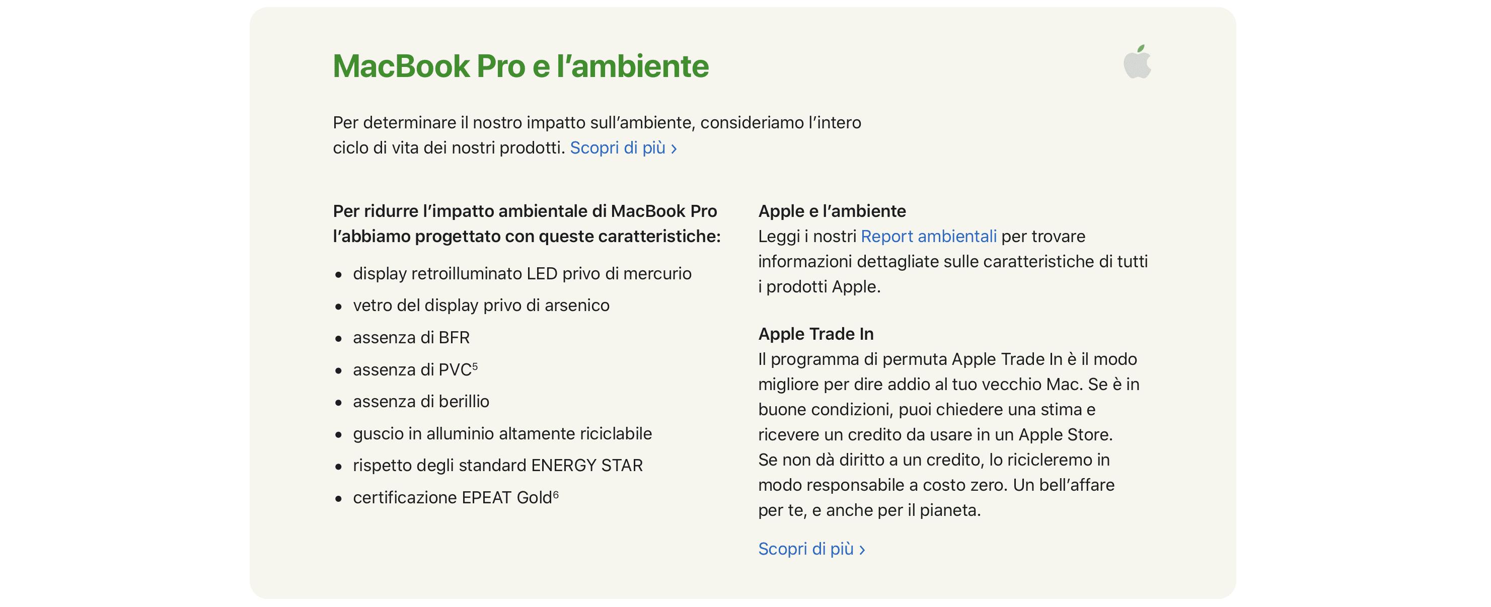 Apple ci mente con la storia dell'ambiente e degli alimentatori?