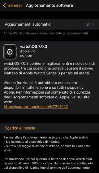 Con WatchOS 7.0.3 addio ai problemi di ravvio su Apple Watch Series 3