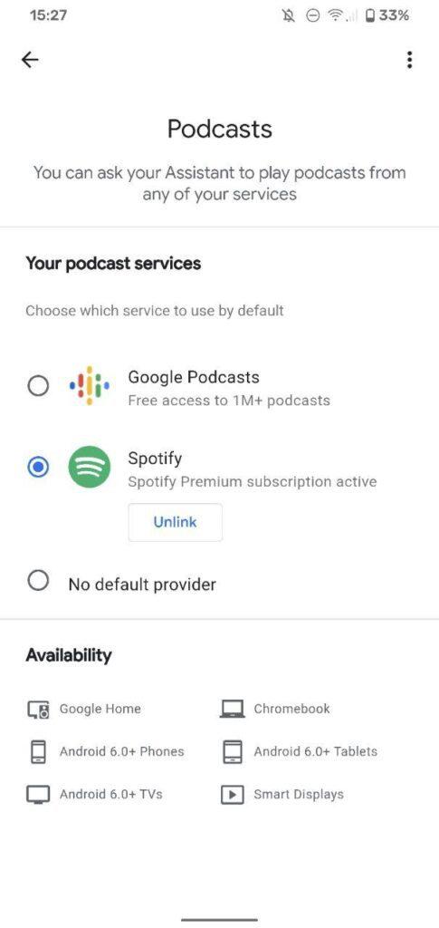 Podcast su Google Home