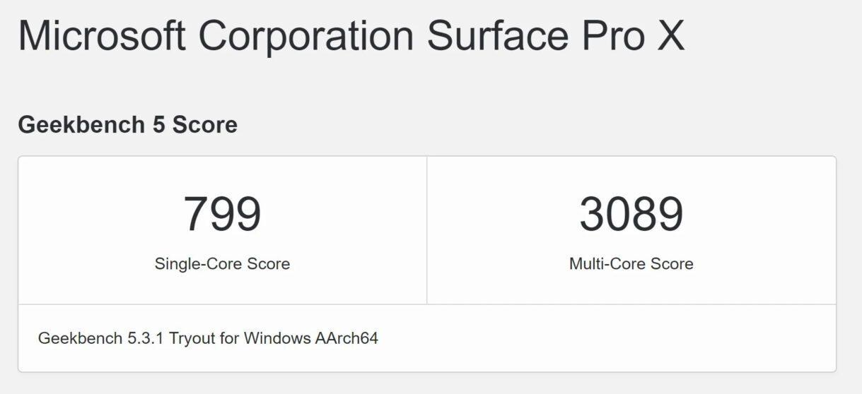 Windows 10 ARM più prestante su M1: battuto Surface Pro X