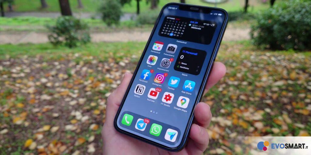 iPhone 12 display e iOS 14