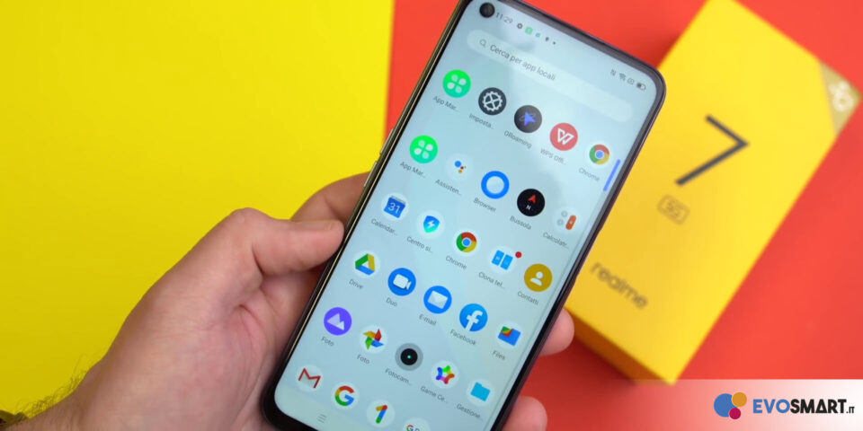 Presente anche su questo smartphone la realmeUI, l'interfaccia proprietaria del produttore cinese che ormai abbiamo imparato a conoscere | Evosmart.it
