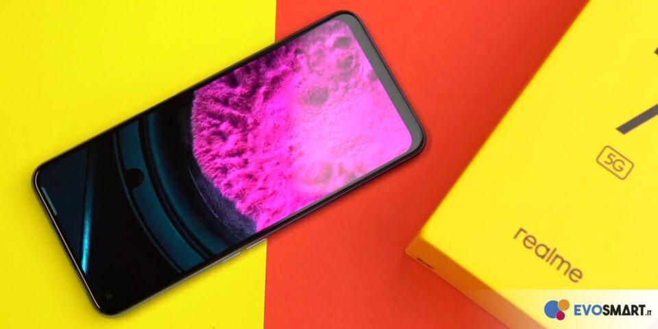 Il display di realme 7 5G è una unità IPS LCD in risoluzione Full HD+, con refresh rate a 120 Hz | Evosmart.it