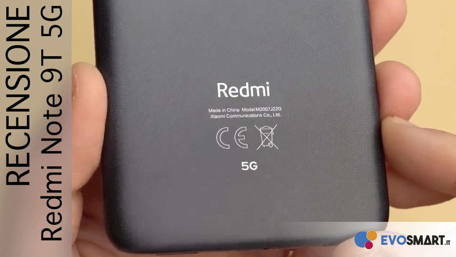 Recensione Redmi Note 9T. Entry Level + 5G!