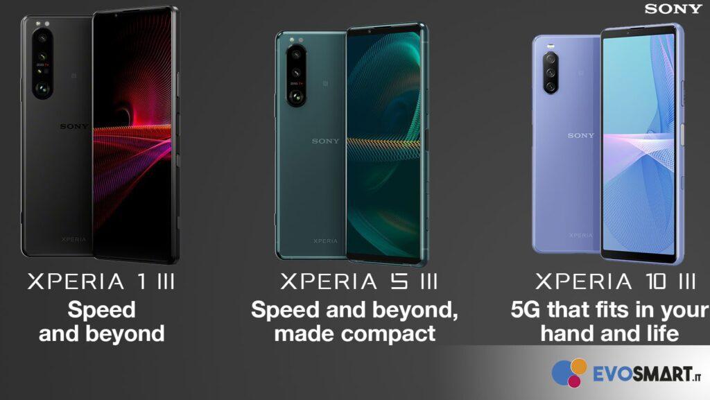 Sony presenta la lineup smartphone 2021. Xperia 1 III, Xperia 10 III e...