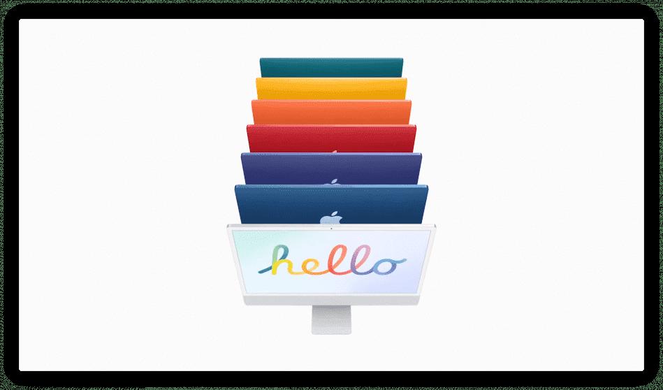Apple presenta i nuovi coloratissimi iMac con chip M1