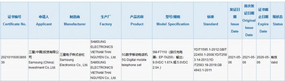 Samsung Galaxy Z Flip certificato dall'ente 3C con caricabatterie da 15W | Evosmart.it