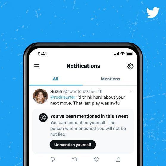 Twitter permetterà agli utenti di cancellare le menzioni indesiderate nei post