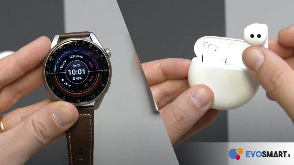 Recensione Huawei Watch 3 Pro e Freebuds 4!