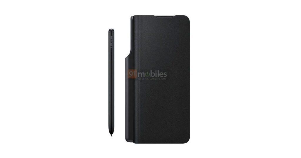 Samsung Galaxy Z Fold3: render ufficiali del case ufficiale con supporto per S Pen