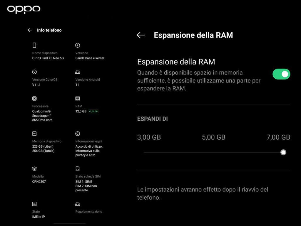 Oppo introduce la tecnologia RAM Expansion