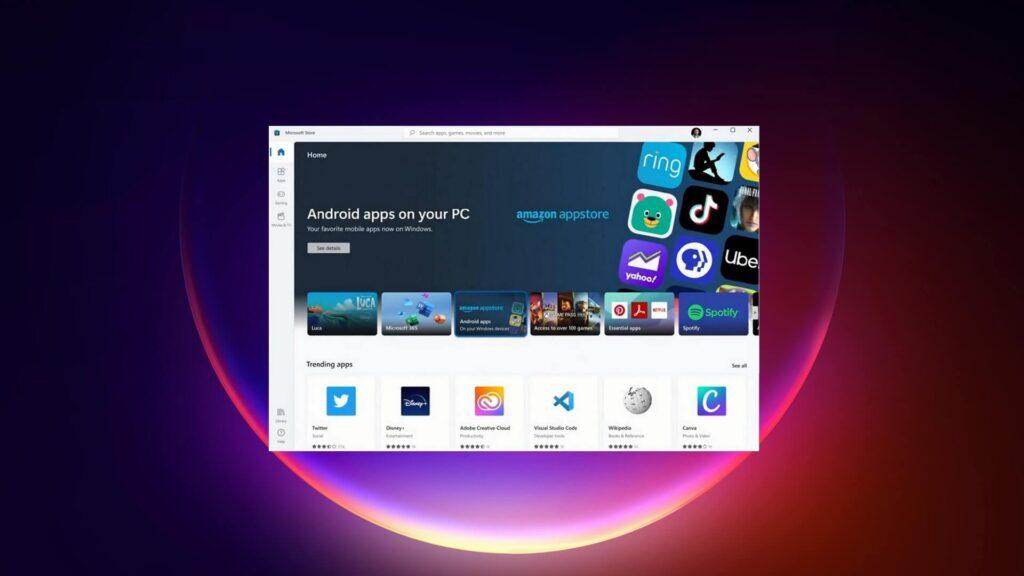 Windows 11: con l'ultima beta arriva l'Amazon Appstore con le prime App Android